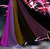 """Одежда ручной работы. Ярмарка Мастеров - ручная работа шифоновая юбка в пол 12-клинка """"Дикий виноград"""". Handmade."""