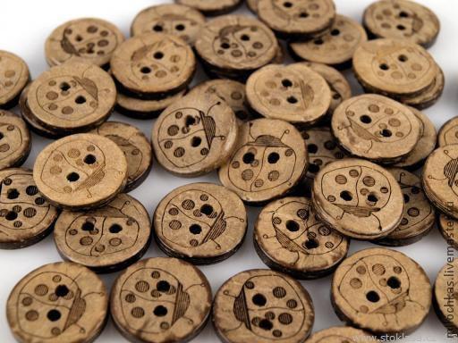 Куклы и игрушки ручной работы. Ярмарка Мастеров - ручная работа. Купить В-100 Пуговица из кокоса, диаметр 15мм. Handmade.