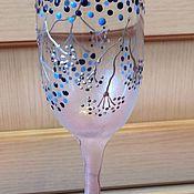Посуда ручной работы. Ярмарка Мастеров - ручная работа ГОЛУБЫЕ МЕЧТЫ набор для вина. Handmade.