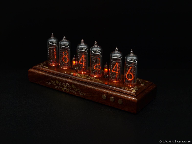 Nixie Clock on IN-14 'Mahogany SteamPunk indicators', Souvenirs, Moscow,  Фото №1