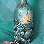 Сувениры и подарки ручной работы. Ярмарка Мастеров - ручная работа бутылка  О Море Сны. Handmade.