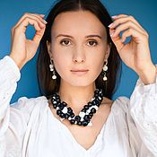 Украшения handmade. Livemaster - original item Jewelry set necklace earrings