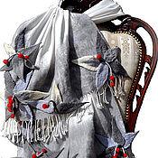 """Аксессуары ручной работы. Ярмарка Мастеров - ручная работа Палантин """"Клюква в сахаре"""". Handmade."""
