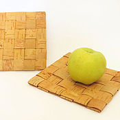 Для дома и интерьера handmade. Livemaster - original item Original support under hot from a bark. Handmade.