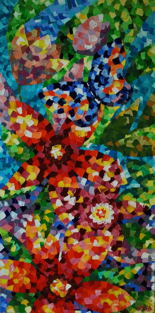 """Пейзаж ручной работы. Ярмарка Мастеров - ручная работа. Купить Картина маслом """"Мозаика лета"""" c багетом. Handmade. Комбинированный"""