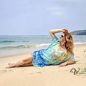 Одежда handmade. Livemaster - original item Silk tunic Adaman sea - batik. Handmade.