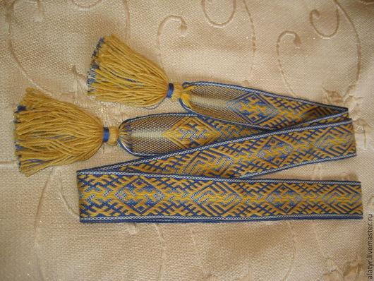 """Одежда ручной работы. Ярмарка Мастеров - ручная работа. Купить Пояс """"Духовная сила"""". Handmade. Синий, подарок мужчине, шерсть"""