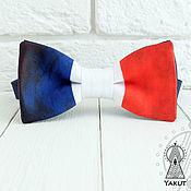 Аксессуары ручной работы. Ярмарка Мастеров - ручная работа Галстук бабочка Французский флаг, винтажный флаг Франции. Handmade.