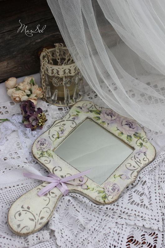 """Зеркала ручной работы. Ярмарка Мастеров - ручная работа. Купить Зеркало """"Винтажные розы"""". Handmade. Белый, Зеркало в подарок"""