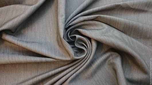 Шитье ручной работы. Ярмарка Мастеров - ручная работа. Купить Ткань костюмная, смесовая. Остаток 1,70м.. Handmade. Серый
