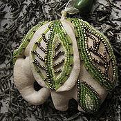 """Куклы и игрушки ручной работы. Ярмарка Мастеров - ручная работа Игрушка слон """"Зелёный чай"""". Handmade."""