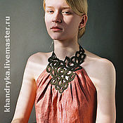 Одежда handmade. Livemaster - original item Top evening terracotta viscose Faberge. Handmade.