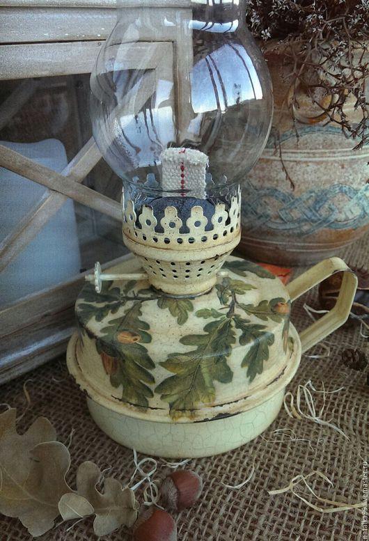 """Освещение ручной работы. Ярмарка Мастеров - ручная работа. Купить """"Старая керосиновая лампа"""". Handmade. Бежевый, оформление интерьера"""
