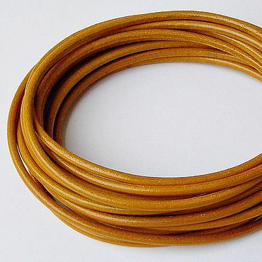 Материалы для творчества ручной работы. Ярмарка Мастеров - ручная работа Шнур кожаный круглый, 4 мм. Handmade.