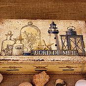 """Для дома и интерьера ручной работы. Ярмарка Мастеров - ручная работа Коробок """"Побережье"""". Handmade."""