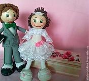 Куклы и игрушки ручной работы. Ярмарка Мастеров - ручная работа Жених и невеста ( +шкатулка). Handmade.
