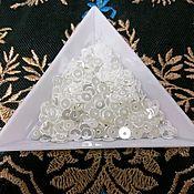 Материалы для творчества handmade. Livemaster - original item India sequins 4mm white. Handmade.