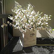 Цветы и флористика ручной работы. Ярмарка Мастеров - ручная работа Ландыши из полимерной глины Деко. Handmade.