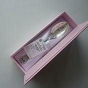 Ложки ручной работы. Ярмарка Мастеров - ручная работа Ложка серебряная именная 925 пробы (на зубок ). Handmade.