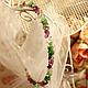 Диадемы, обручи, украшения для волос ручной работы. Свадебные украшения, для торжеств, повседневные. Ярмарка Мастеров - ручная работа. Купить ободок для волос `Нефритовые искры`. Handmade.