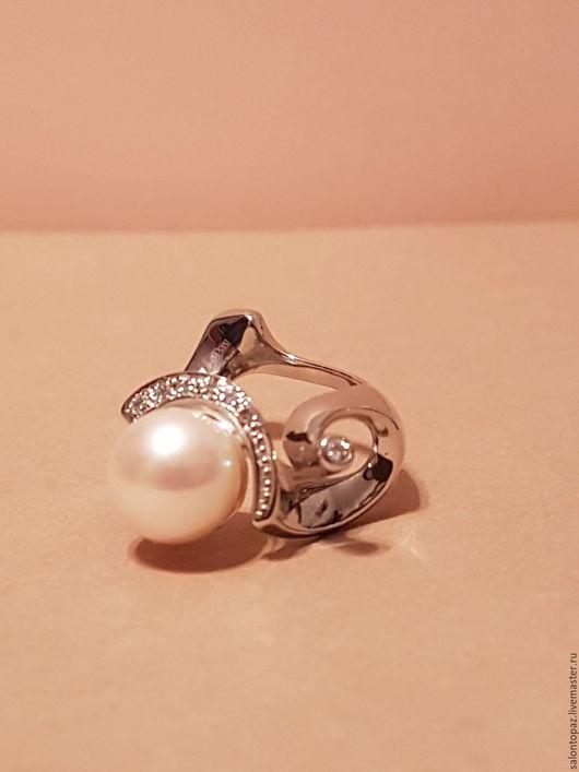 Кольца ручной работы. Ярмарка Мастеров - ручная работа. Купить Кольцо с жемчугом. Handmade. Белый, кольцо с камнями, белый жемчуг