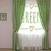 Для дома и интерьера handmade. Livemaster - original item Light green curtains for bedroom. Handmade.