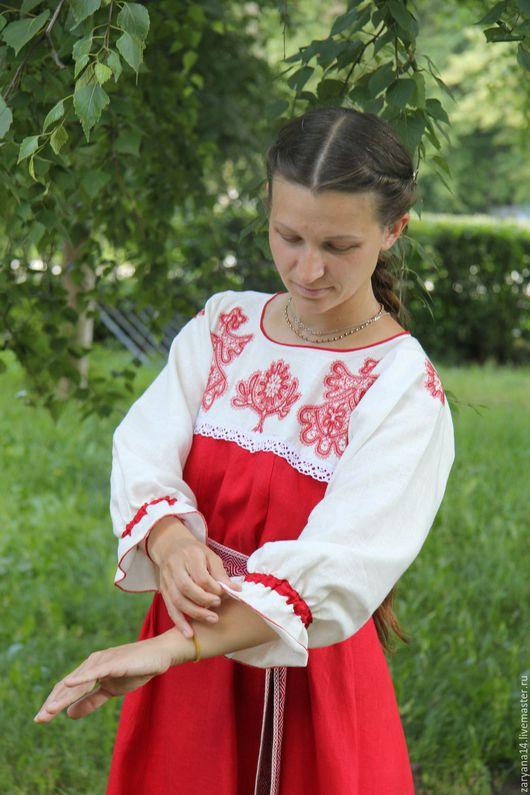 """Платья ручной работы. Ярмарка Мастеров - ручная работа. Купить Платье  """"Кружевная Макошь"""". Handmade. Чёрно-белый, славянское платье"""