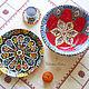 Тарелки ручной работы. Керамика в восточном стиле. Ceramic Tales by Valentina Fadeeva. Интернет-магазин Ярмарка Мастеров. восток