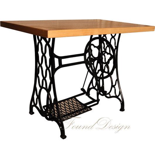 Мебель ручной работы. Ярмарка Мастеров - ручная работа. Купить Письменный стол Зингер. Handmade. Черный, стол, кованая мебель
