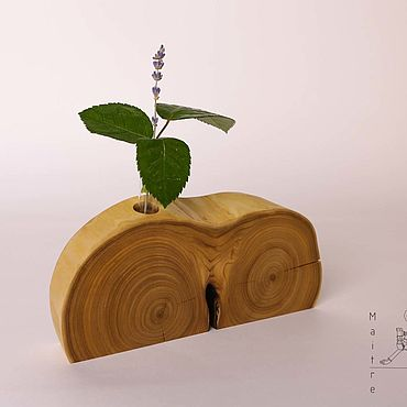 Для дома и интерьера ручной работы. Ярмарка Мастеров - ручная работа Эковаза Maitre. Ваза из дерева. Ваза с пробиркой / колбой. Handmade.
