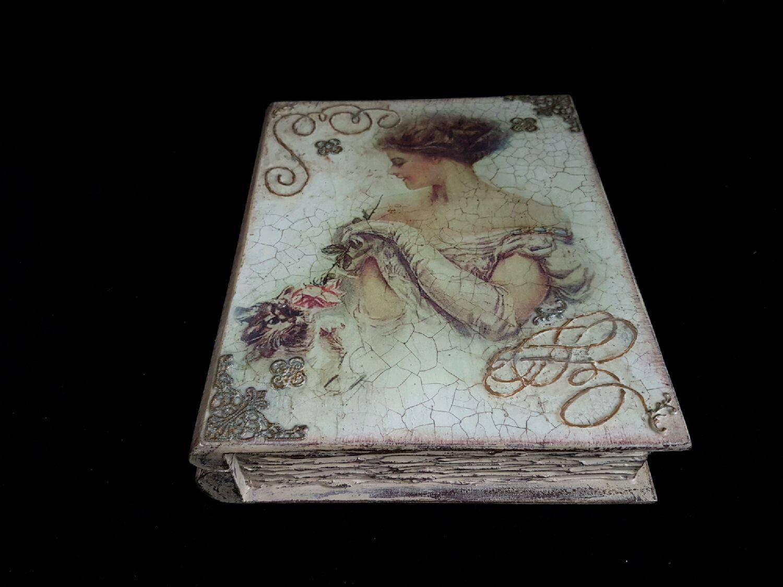 Box-book with a lock ,,Lady,, jewelry box, Box, Riga,  Фото №1