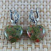 Украшения handmade. Livemaster - original item Silver plated earrings