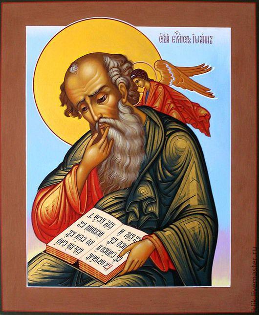 Икона Святой Иоанн Богослов. Ручная роспись. Ярмарка мастеров.
