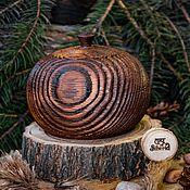 Для дома и интерьера handmade. Livemaster - original item A jug with a Textured lid and a pine Barrel K38. Handmade.