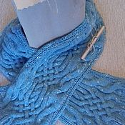 Аксессуары handmade. Livemaster - original item Long knitted scarf with.. Handmade.