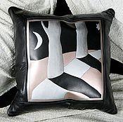 Аксессуары handmade. Livemaster - original item DARK ALLEYS cushion leather. Handmade.