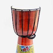 Музыкальные инструменты ручной работы. Ярмарка Мастеров - ручная работа Барабан Джамбе 40 см с росписью. Handmade.