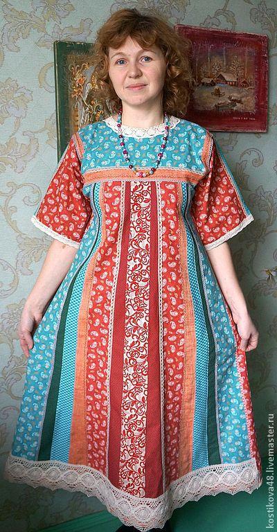 """Одежда ручной работы. Ярмарка Мастеров - ручная работа. Купить Платье """"Вернисаж"""". Handmade. Платье, ситец"""