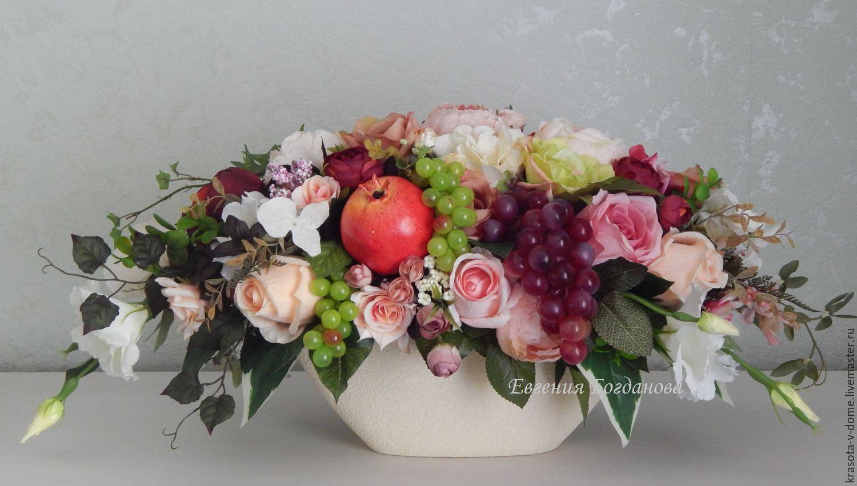 Композиции с цветами и фруктами 41