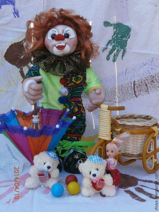 Коллекционные куклы ручной работы. Ярмарка Мастеров - ручная работа. Купить Клоун. Handmade. Комбинированный, текстильная кукла, Праздник, капрон