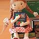 """Коллекционные куклы ручной работы. Заказать Куклы текстильные """"Скоро в школу"""". Елена Мытарева. Ярмарка Мастеров. Подарок женщине, школьник"""