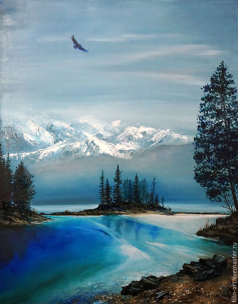 Landscape Oil Painting On Canvas Master Of The Vast Expanses