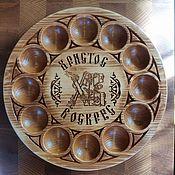 Посуда ручной работы. Ярмарка Мастеров - ручная работа Деревянная подставка для яиц Светлая Пасха. Handmade.