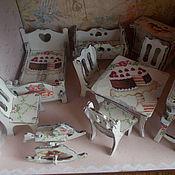 Куклы и игрушки ручной работы. Ярмарка Мастеров - ручная работа Кукольная мебель (декупаж), мебель для кукол.. Handmade.