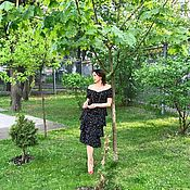 Одежда handmade. Livemaster - original item Polka dot dress, summer dress, women`s dress .. Handmade.