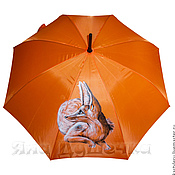 Аксессуары handmade. Livemaster - original item Umbrella parasol hand painted sandy Fox. Handmade.
