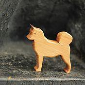 Мягкие игрушки ручной работы. Ярмарка Мастеров - ручная работа Собака из дерева. Лайка. Деревянная фигурка.. Handmade.