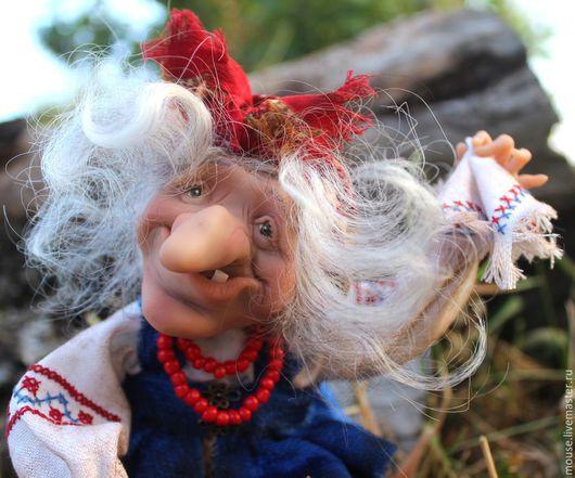 Коллекционные куклы ручной работы. Ярмарка Мастеров - ручная работа. Купить Развеселая Яга. Handmade. Коллекционная кукла, подарок женщине