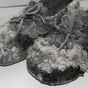 """Обувь ручной работы. Ярмарка Мастеров - ручная работа Тапки валяные """"Кеды кучерявые"""". Handmade."""
