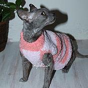 Для домашних животных, ручной работы. Ярмарка Мастеров - ручная работа Свитер для котов и кошек.. Handmade.